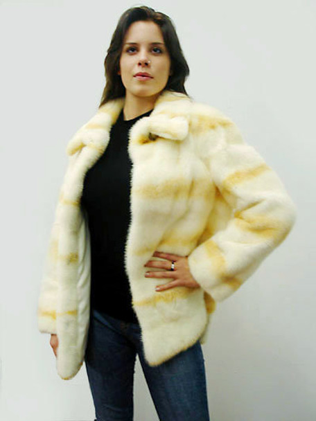 Mink Fur Sheared Full Skin Design Jacket