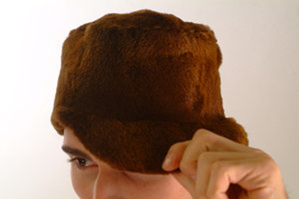 Brown Sheared Mink Fur Full Skin Men's