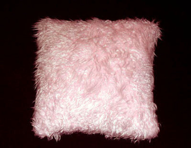 Pink Fox Fur Pillow