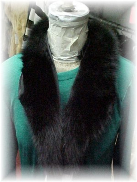 Full Skin Black Fox Shawl Fur Collar