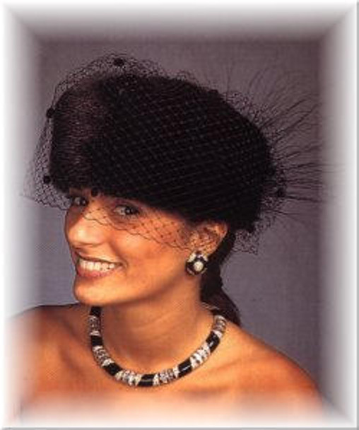 Evening Pillbox Fur Hat