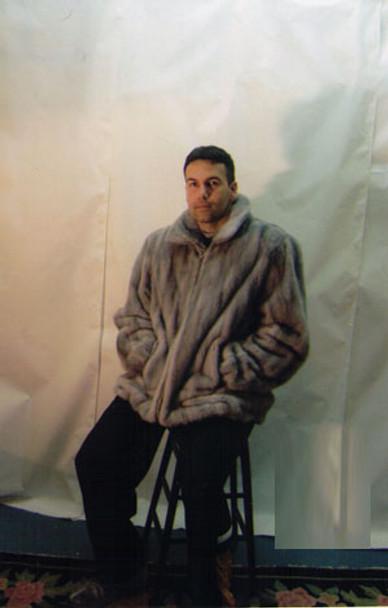 Mens Mink Full Pelt Bomber Fur Jacket 4