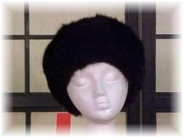 Dyed Black Fox Fur Hat