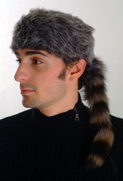 "Gray Faux Fur Unisex  Raccoon Tail ""Daniel Boone"""