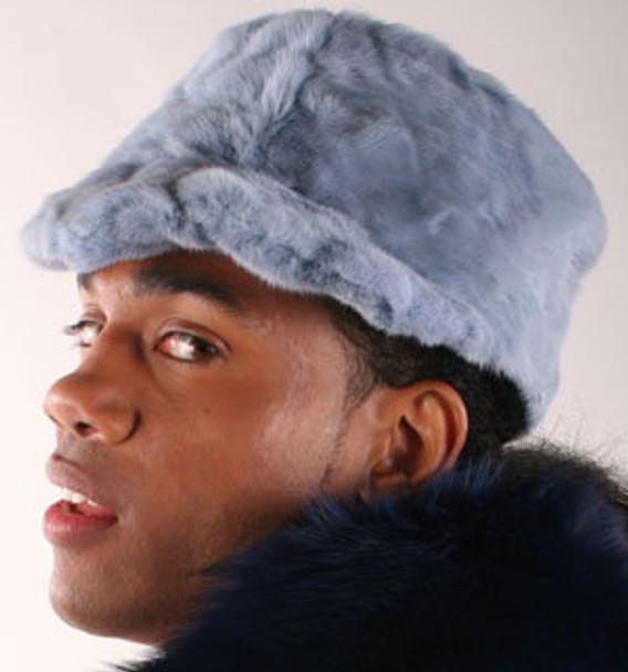 Blue Mink Hat