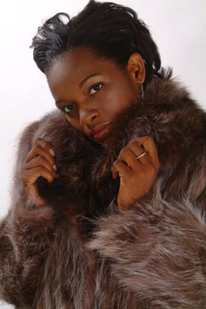Sectional 3/4 Raccoon Fur Jacket