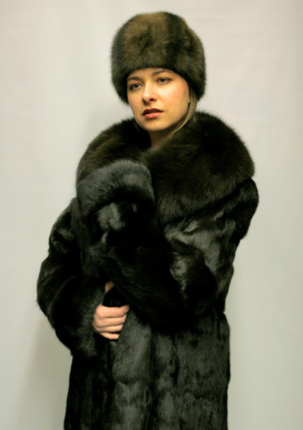 Dyed Sable Mink Coat