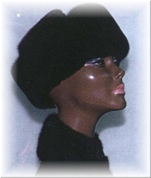 Mink Trooper Fur Hat with Suede Crown