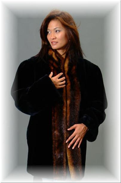 Faux Fur Mink Tuxedo Jacket