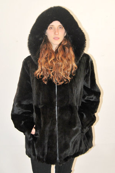 Mink Fur Bomber Jacket 1