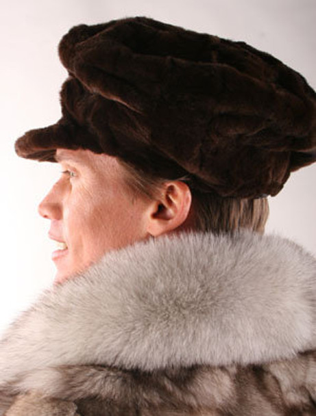 Brown Mink Sheared Fur Hat