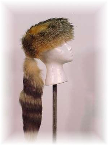 "Gray Fox ""Daniel Boone"" Fur Hat"