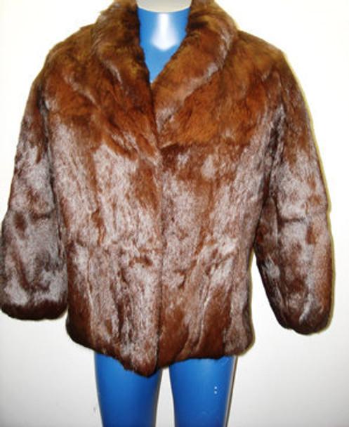 Vintage Full Skin Rex Brown Rabbit