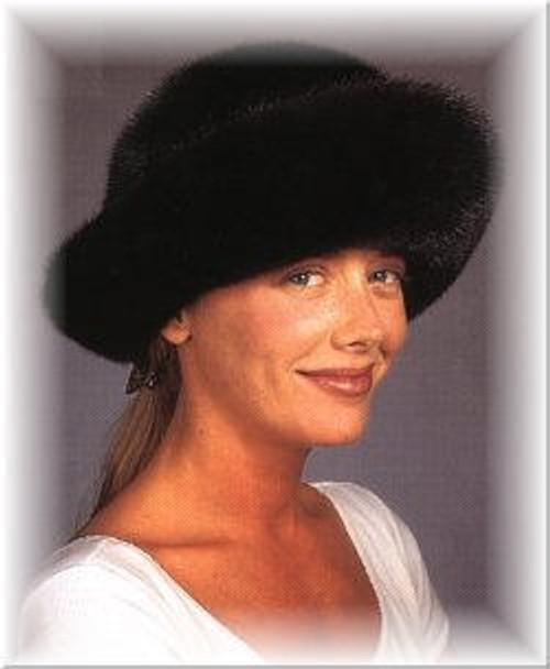 Mink Brim Fur Hat 1