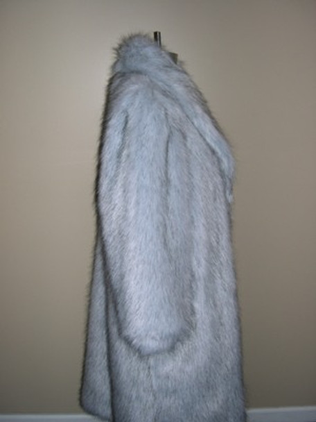 Faux Blue Fox Long Coat