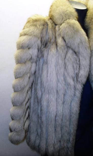 Vintage Blue Fox Jacket Women's