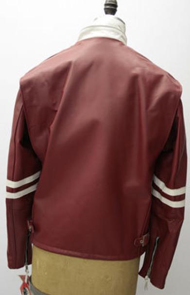 Leather Mens Red Biker Jacket