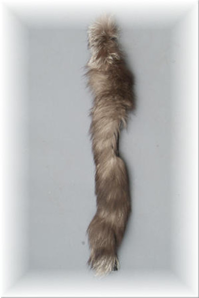 Indigo Fox Fur Strip Tails