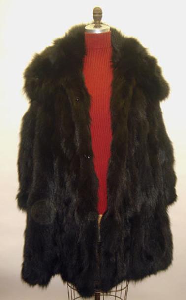 Black Fox 3/4 Fur Jacket with Hood