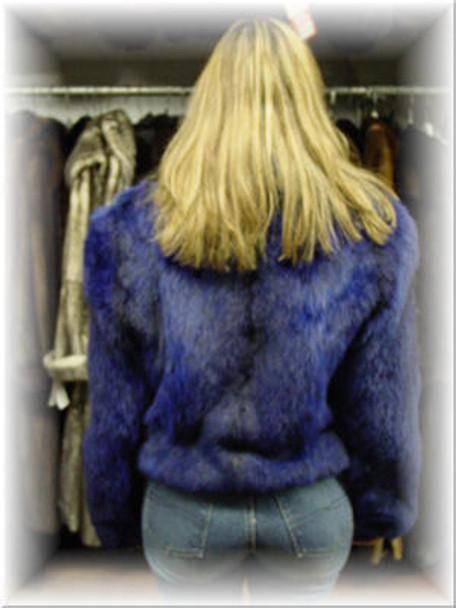Full Skin Fox Fur Bolero Jacket with Fox Fur Collar