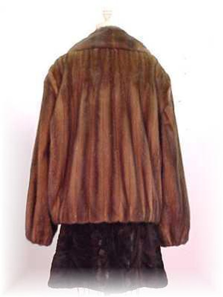 Full Skin Dark Mahogany Mink Bomber Fur Jacket