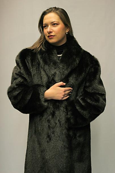 Faux Fur Beaver Coat
