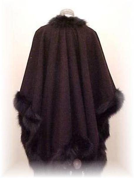 Cape with Brown Fox Fur Trim 1
