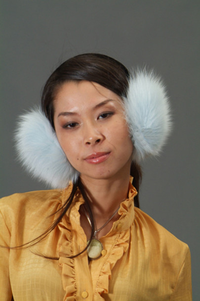 Buy White Fox Fur Earmuffs