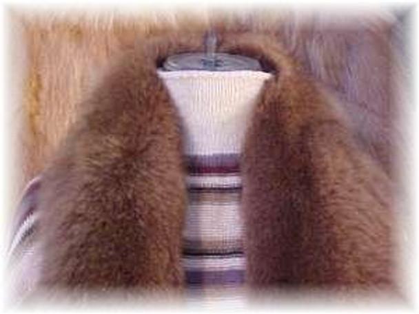Full Skin Brown Fox Fur Scarf 1