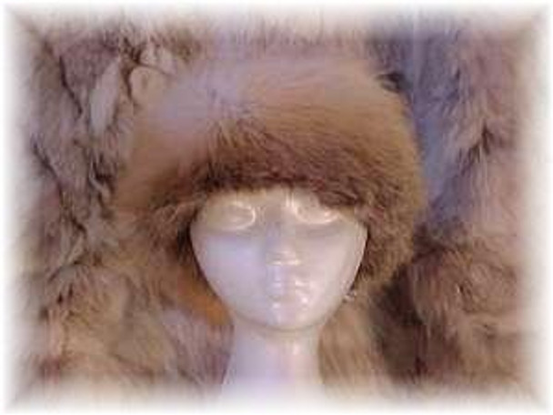 Golden Island Fox Sectional Fur Head Wrap