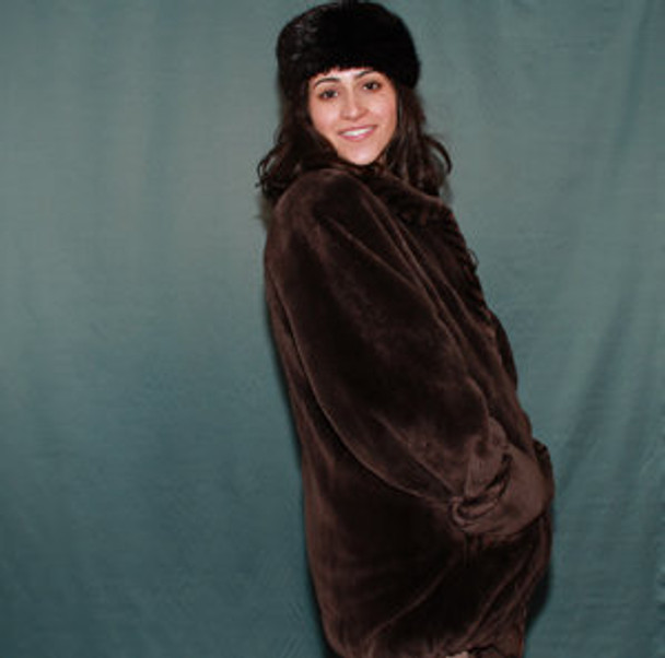 Full Pelt Sheared Beaver Fur Design Jacket