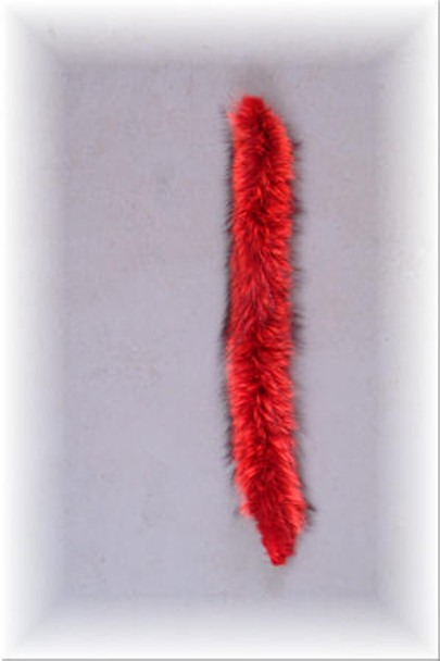 Red Raccoon Fur Strips