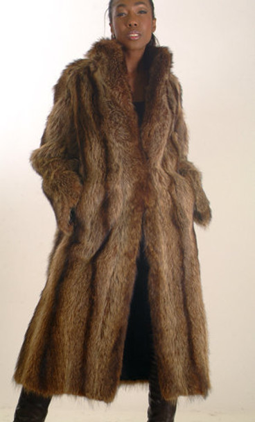 Vintage Raccoon Long Coat