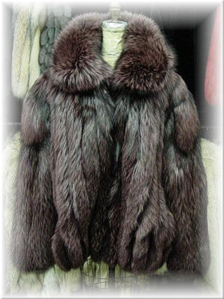 22c7b1bd6a0 Full Skin Dyed Silver Fox Bomber Fur Jacket - furoutlet - fur coat ...