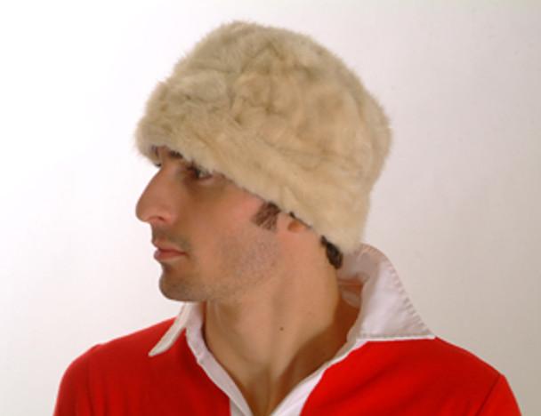 White Mink Fur Basehat Men's