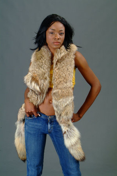Coyotte Fox Fur Scarf
