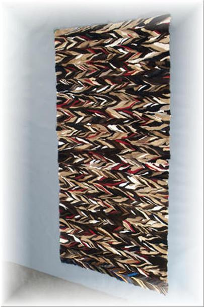 Multi Color Mink Fur Tails Plate