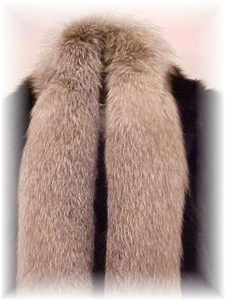 Full Skin Indigo Fox Fur Scarf 1