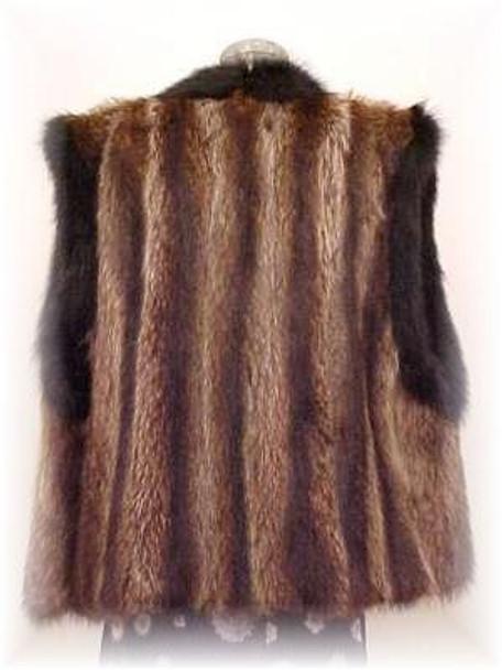 Full Skin Dyed Raccoon Fur Vest