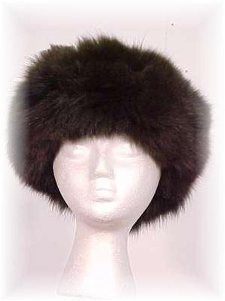 Brown Fox Fur Head Wrap - Full Skin