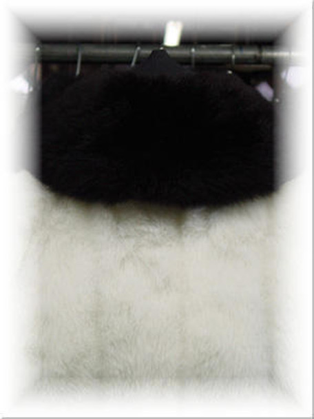 Full Skin Black Fox Fur Collar 1
