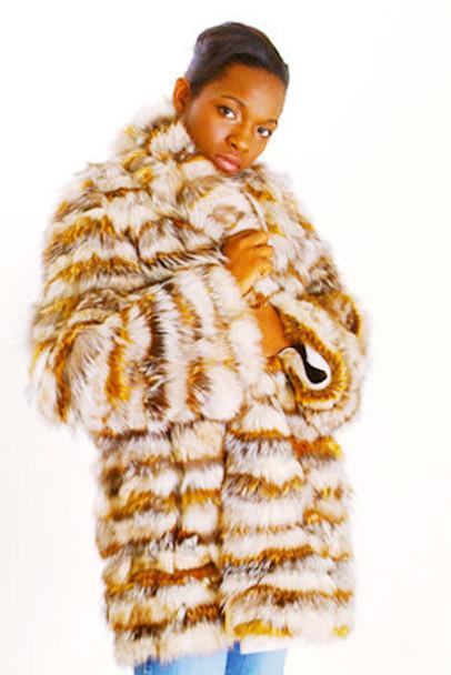 Multicolor Fox Fur Jacket 1