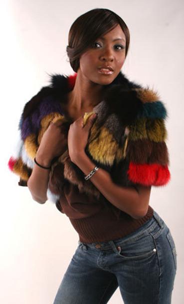 Multicolor Sectional Fox Bolero Style -