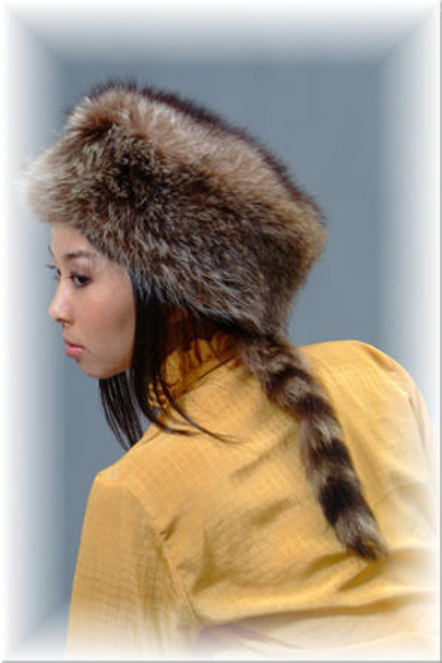 "Fur Hat Buy Raccoon ""Daniel Boone"