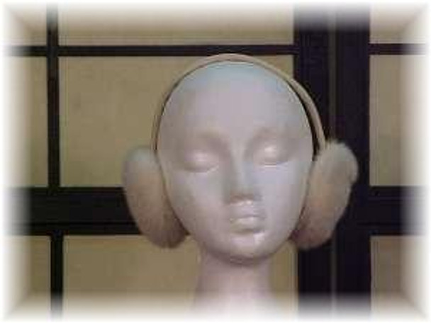 White Mink Fur Earmuffs 1