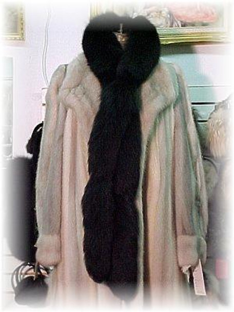 Black Fox Tail Fur Scarf