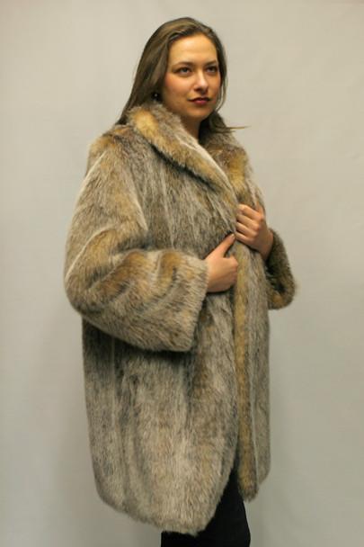 Faux Fur Fox Jacket