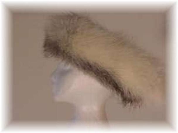 Full Skin Cross Fox Fur Head Wrap 4