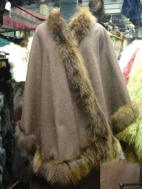 Dyed Raccoon Fur Cape