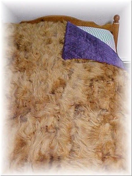 Sectional Dyed Racoon Fur Blanket